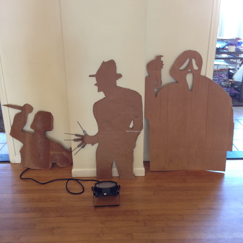 Halloween cardboard cutouts for Cardboard halloween decorations diy