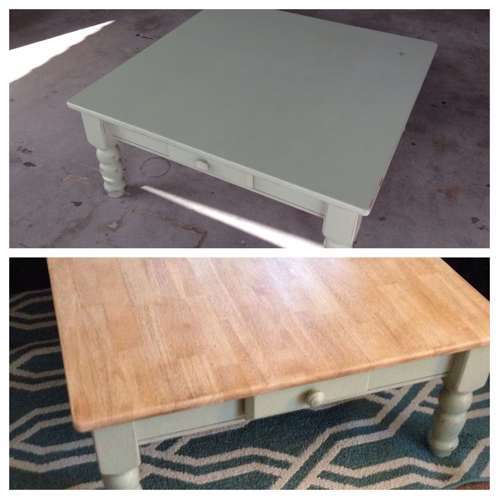 Shabby Chic Corner Coffee Table: Shabby Chic To Farmhouse Coffee Table